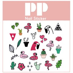 PP NAIL STICKER - FLAMINGO