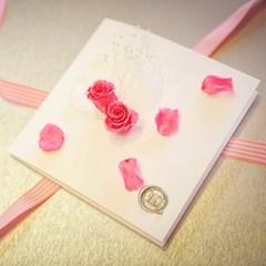 프리저브드 플라워 카드 [핑크장미]