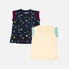[풍기인견 다이마루]민트 하프 셔츠 & 스타 하프 셔츠