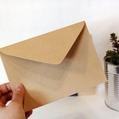 [앳원스]크라프트지 엽서/카드 봉투 20매
