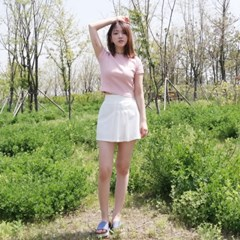 pleats mini skirt