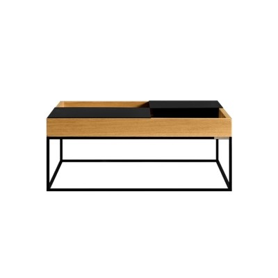 Square table & steel tray
