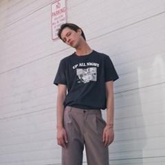 Up all night T-shirts_Dark gray