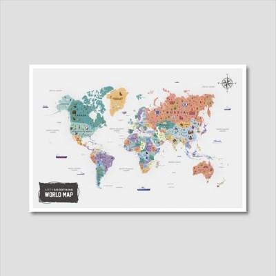 세계지도 아트프린트 에디션 no. 0008