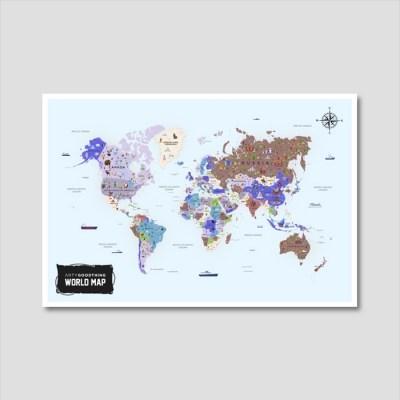 세계지도 아트프린트 에디션 no. 0010
