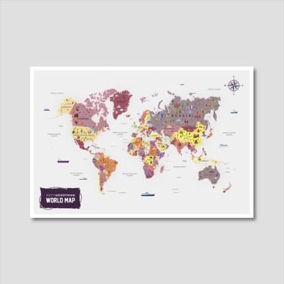 세계지도 아트프린트 에디션 no. 0011