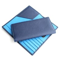 MATT 사피아노 슬림 남성 장지갑(스틸블루+로얄블루)w22821