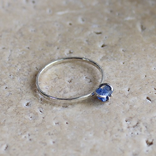 천연 블루 사파이어 실버 반지 raw blue sapphire silver ring