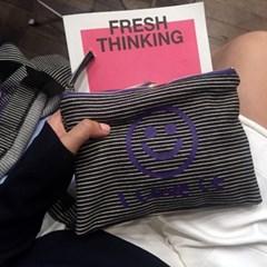 [킵캄]smile pouch_stripe/s size