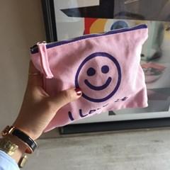 [킵캄]smile pouch_pink/s size
