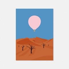 열기구여행 나미비아 오렌지사막 엽서