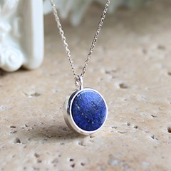 딥 씨 라피스라줄리 목걸이 deep sea lapis lazuli necklace