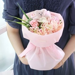 [아기옷플라워] 미니베어 부케_핑크