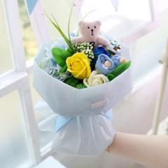 [아기옷플라워] 미니베어 부케_블루