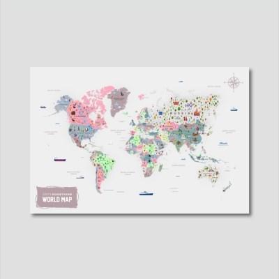 세계지도 아트프레임 에디션 no. 0004