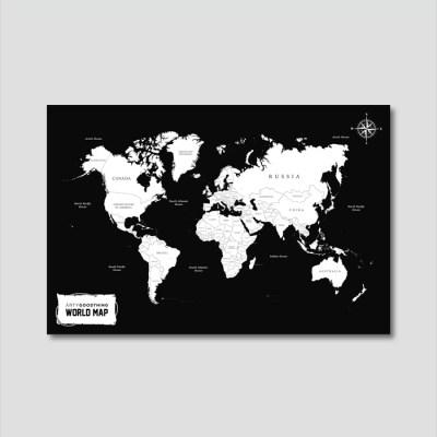 세계지도 아트프레임 에디션 no. 0007