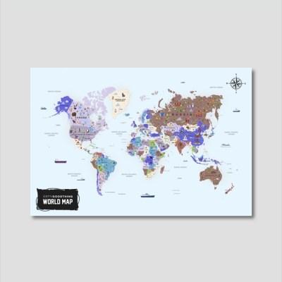 세계지도 아트프레임 에디션 no. 0010