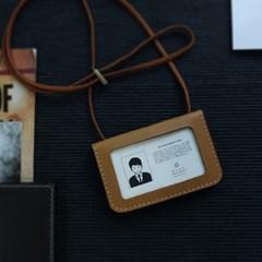 Id-card Case wide -천연가죽 사원증,신분증 케이스 [Arabia Sand]
