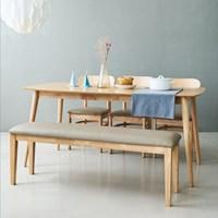 코코로(N) 6인 식탁세트(의자/벤치)_(201142307)