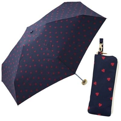 Jaggy heart mini (no.424-126)-NV(네이비) 5단우산