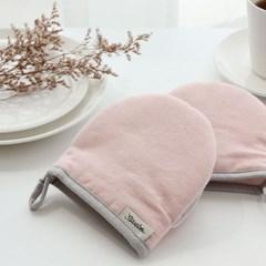 [쓰임] 린넨배색 핑크 주방장갑