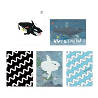 Sea Postcard Set (5 sheets)