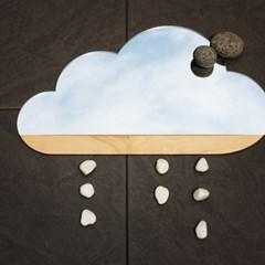 사뿐사뿐 나무 구름 디자인 거울