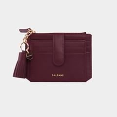 [미니태슬증정]Dijon 301S Flap mini Card Wallet burgundy
