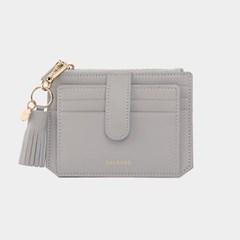 [미니태슬증정]Dijon 301S Flap mini Card Wallet light grey