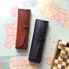 Pencil Case_Cross Folding Deluxe [Burnt Oak] [Sleek Black]