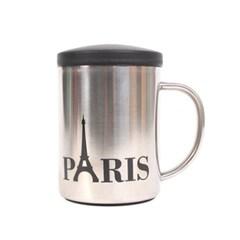 파리 에펠탑 스텐레스 뚜껑 2중 진공 머그컵