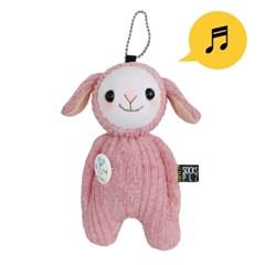 양말인형 분홍 양 삑삑이 아기 안다