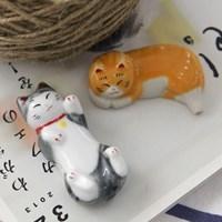 세라믹 젓가락 받침대-우리집 고양이