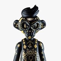 EPICASE Art Figure Skulkey Gold