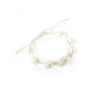 Rose necklace - ivory