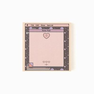 pink heart memo pad_S