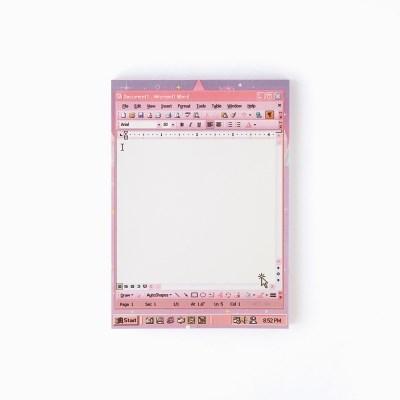 word pink memo pad_ L