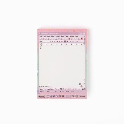 word violet memo pad_L