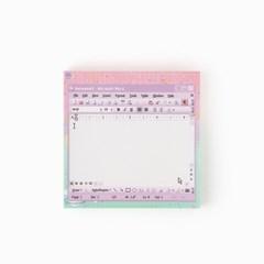 word violet memo pad_S