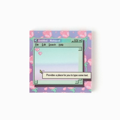 retro rose memo pad