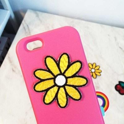 노란국화꽃 와펜스티커