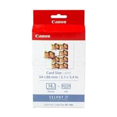 Canon KC-18IL 캐논 셀피 18매 카드 사이즈 8분할 스티커 용지