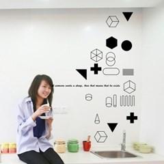 모던추상-11 (S691) 그래픽스티커 벽 포인트 시트지
