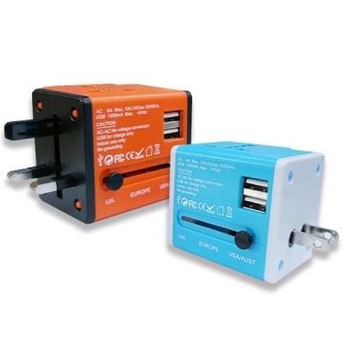 아이넷 JY-159 해외 여행용 멀티아답터(USB2포트)