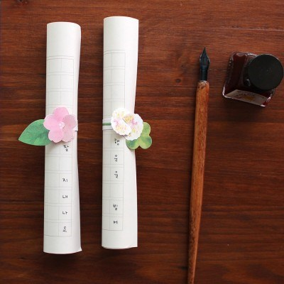 롤링레터 벚꽃과 클로버