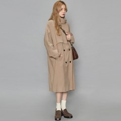 high neckline soft trench coat (2 colors)_(401128)