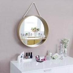 원형 벽걸이 거울 선반