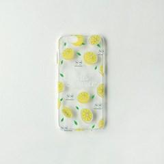 HELLO SUMMER 과일 레몬 투명 젤리케이스