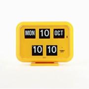 [트웸코] 캘린더 플립 벽시계 QD-35 (yellow)