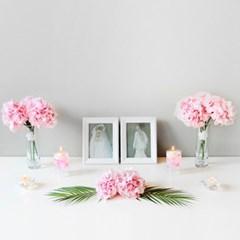 핑크 아지사이 웨딩 파티 테이블 SET